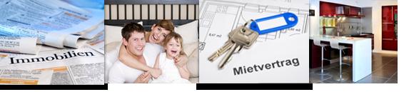Banner: Immobilien, Familie, Mietvertrag, Rechtsstreit